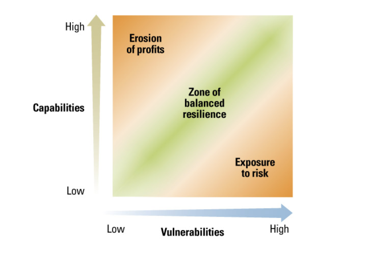 balance risk and capabilities to overcome